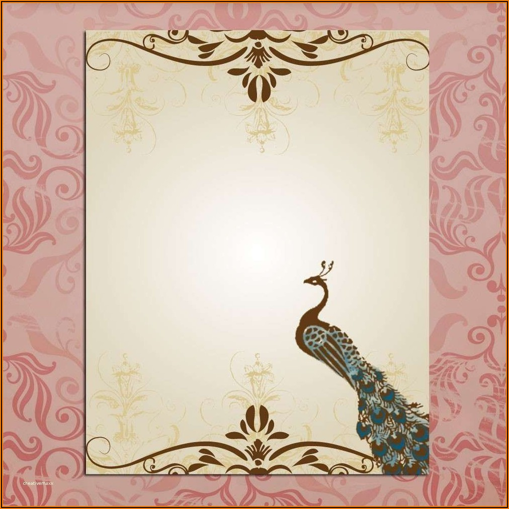 Wedding Invitation Card Background Template