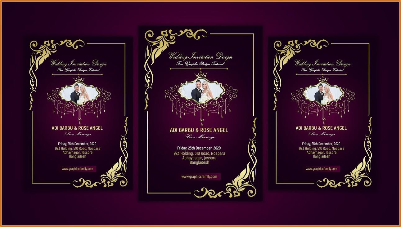 Wedding Invitation Card Psd Free Download