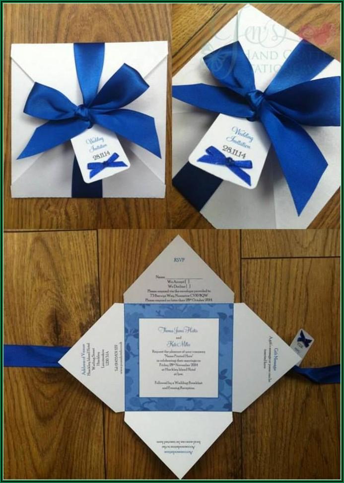 Wedding Invitation Ideas Royal Blue