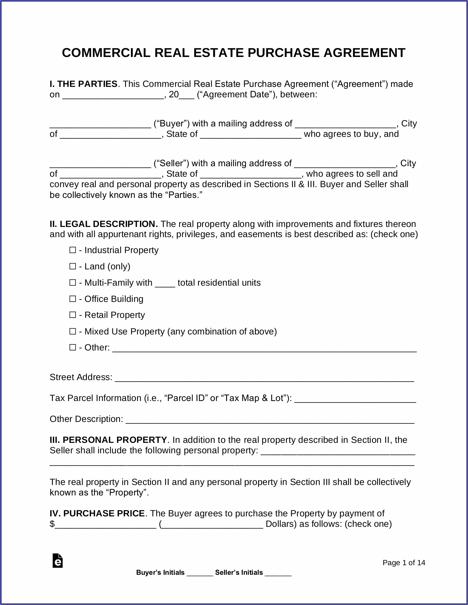 Wholesale Purchase Agreement Contract Template