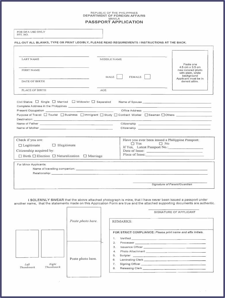 Www.passport Renewal Form