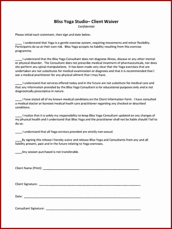 Yoga Liability Waiver Form