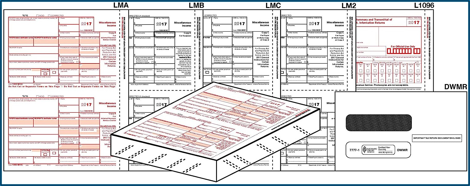1099 Misc Laser Tax Forms 2020