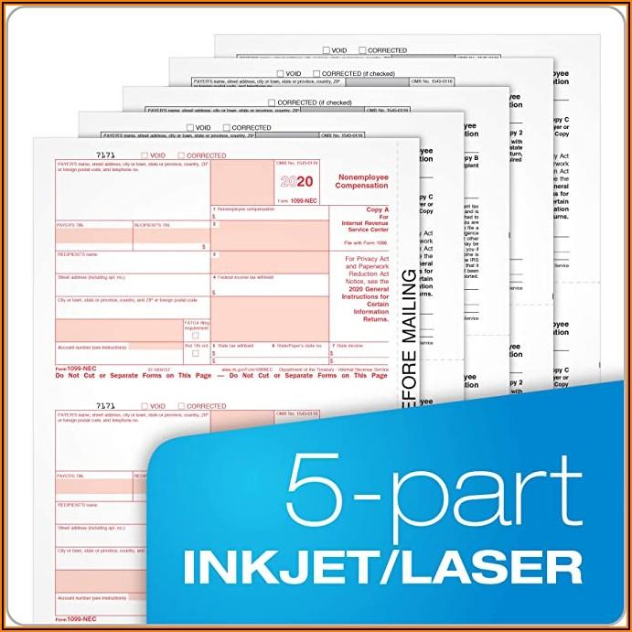 1099 Nec Laser Forms 2020