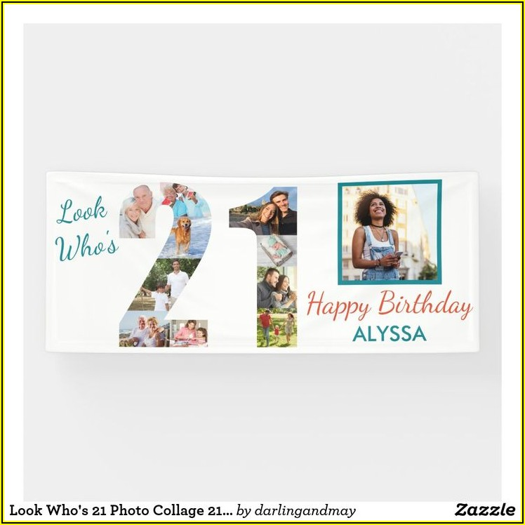21st Birthday Photo Collage Template