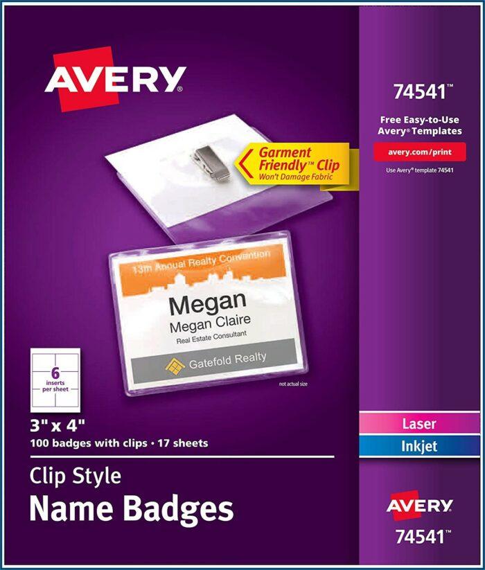 4x3 Name Badge Template