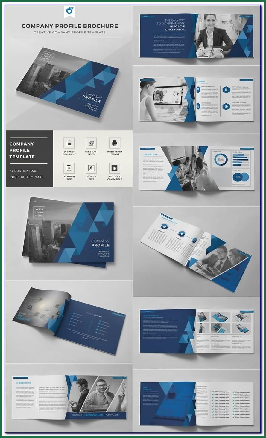 8.5 X 11 Half Fold Brochure Template