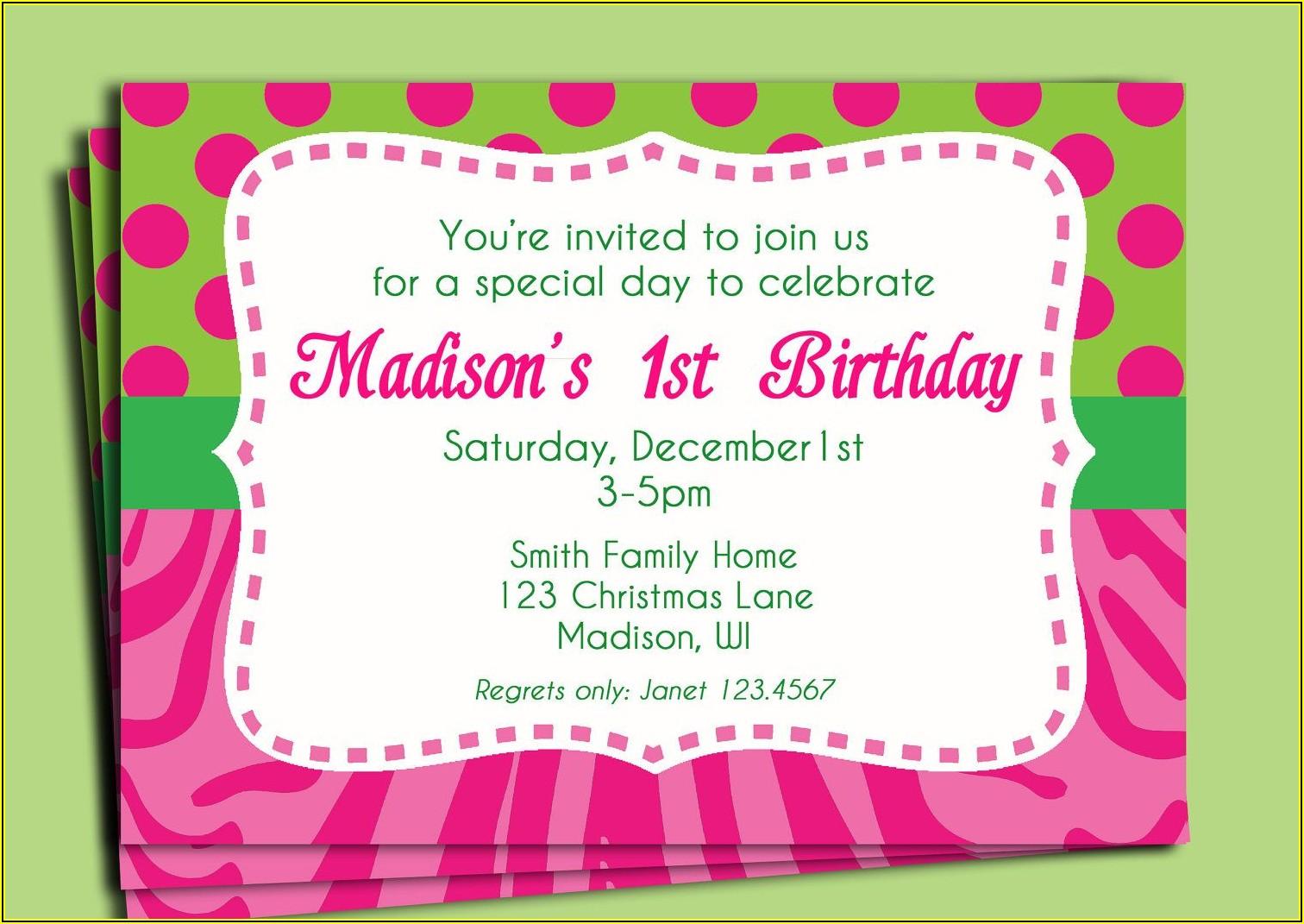 80th Birthday Invitation Sample