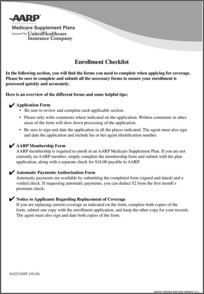 Aarp Medicare Disenrollment Form