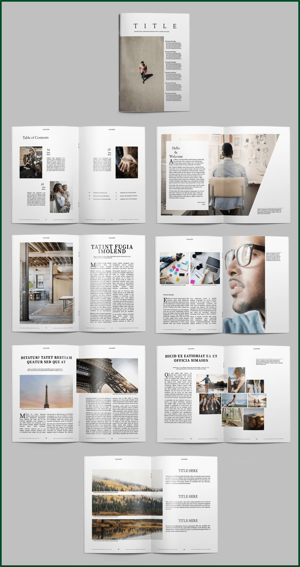 Adobe Indesign Magazine Templates