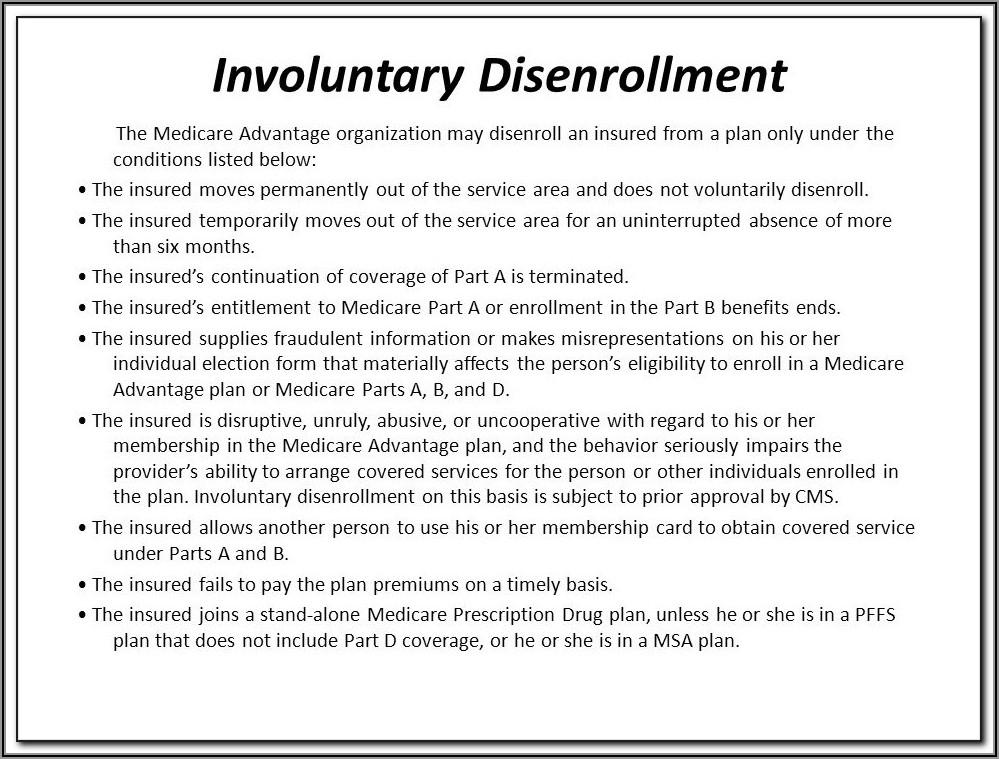 Aetna Medicare Disenrollment Form