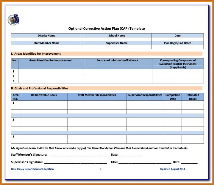 Anaphylaxis Action Plan Form