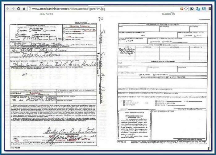 Application Form Renewal Passport