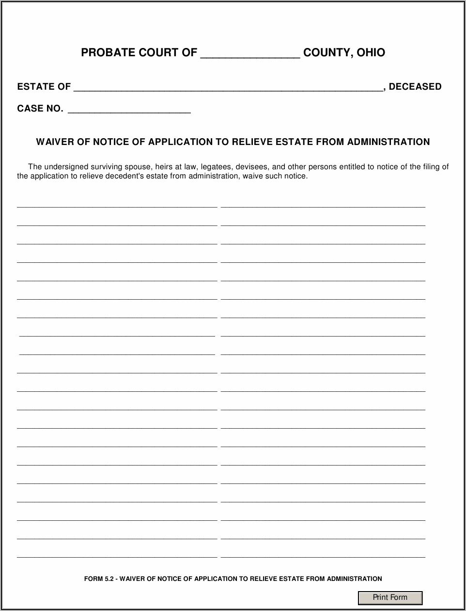 Arizona Probate Court Forms