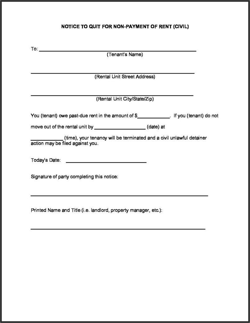 Arkansas Eviction Notice Form