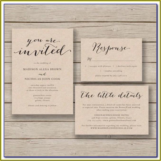 Beach Wedding Invitations Templates Free