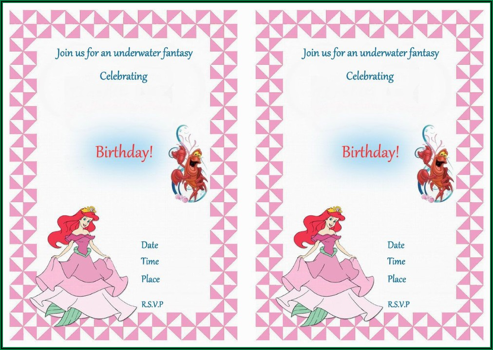 Birthday Party Invite Email Templates