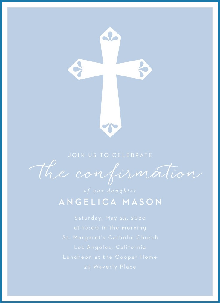 Blank Confirmation Invitation Template