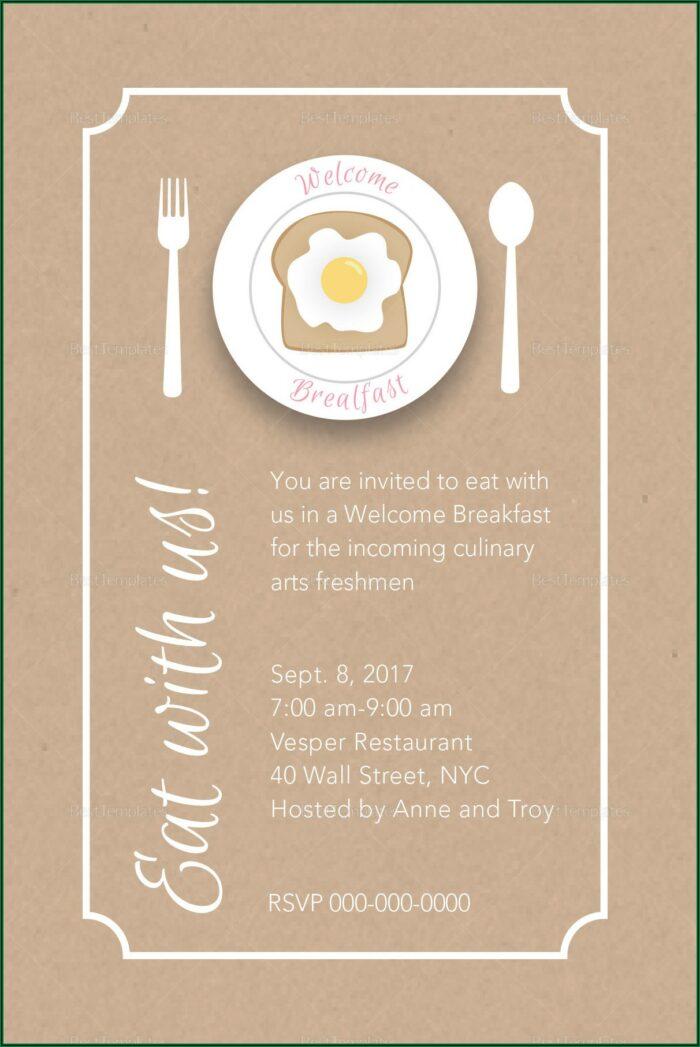 Breakfast Invitation Template Word
