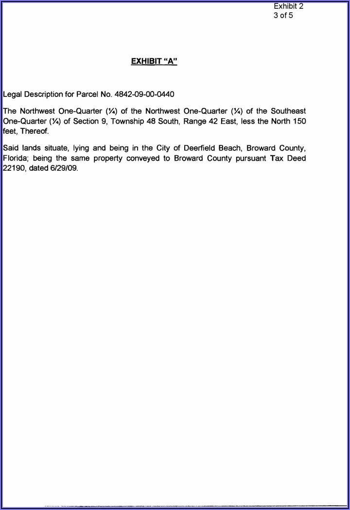 Broward County Quit Claim Deed Form