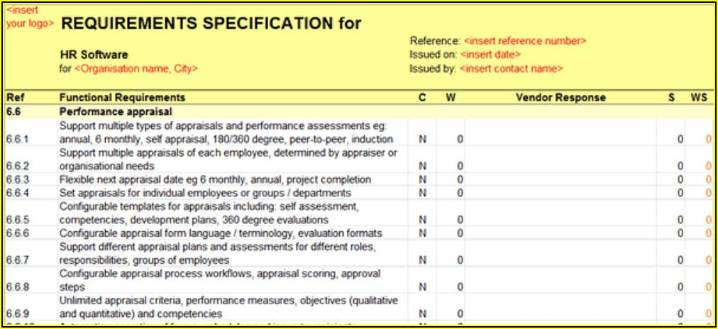 Business Intelligence Requirements Gathering Template
