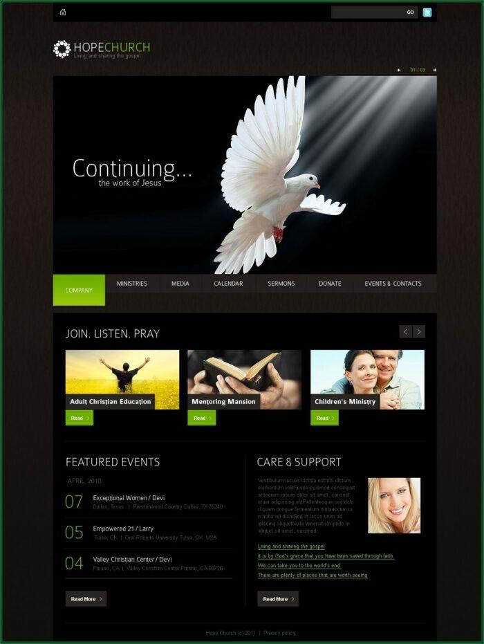 Catholic Church Website Templates Free Download