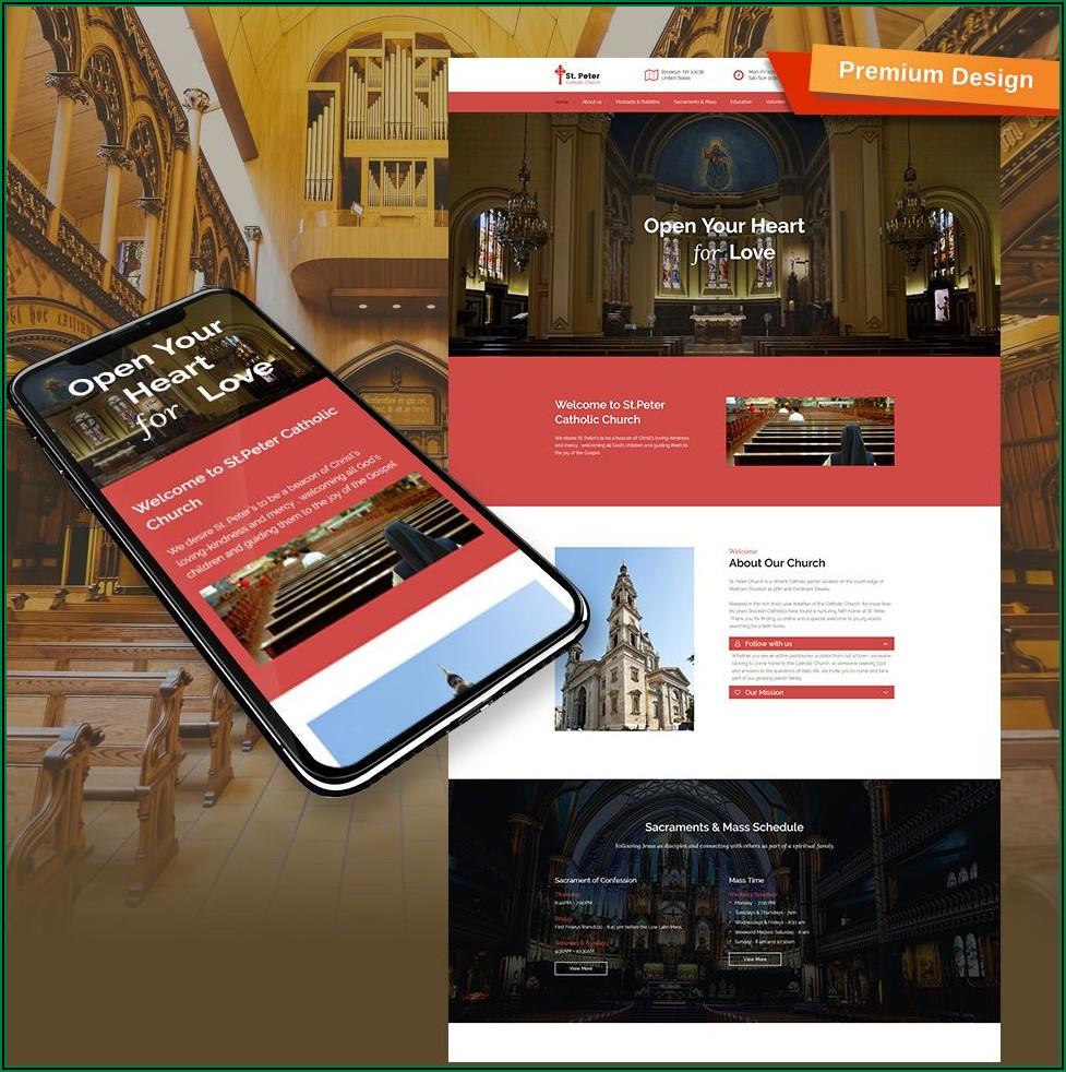 Catholic Church Website Templates