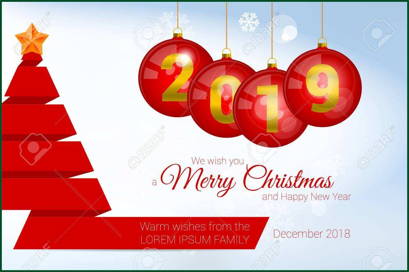 Christmas New Year Greeting Card Templates