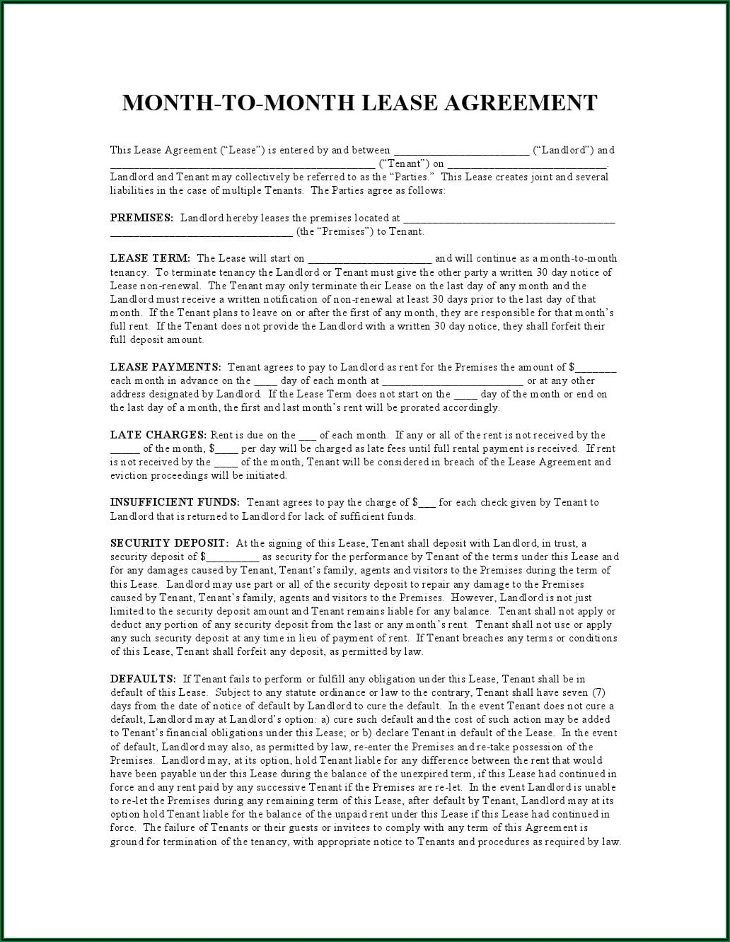 Commercial Lease Agreement Pdf New York