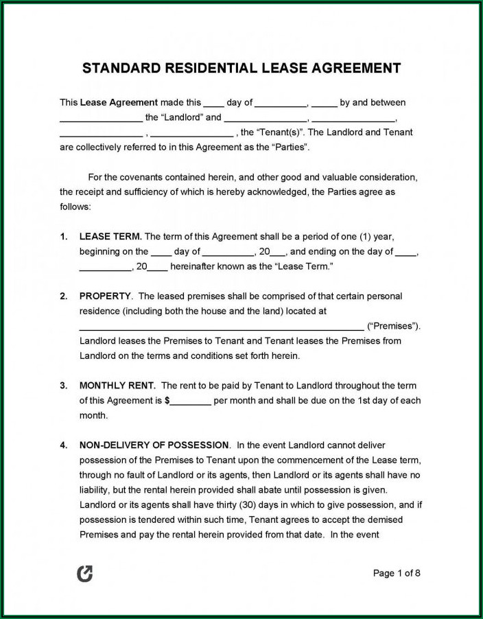 Commercial Lease Agreement Pdf Ontario