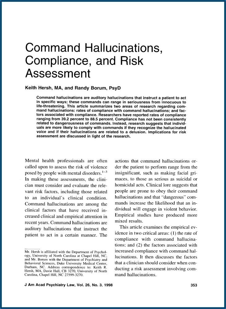 Compliance Risk Assessment Document