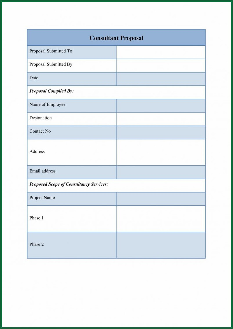 Consulting Proposal Template Free Download