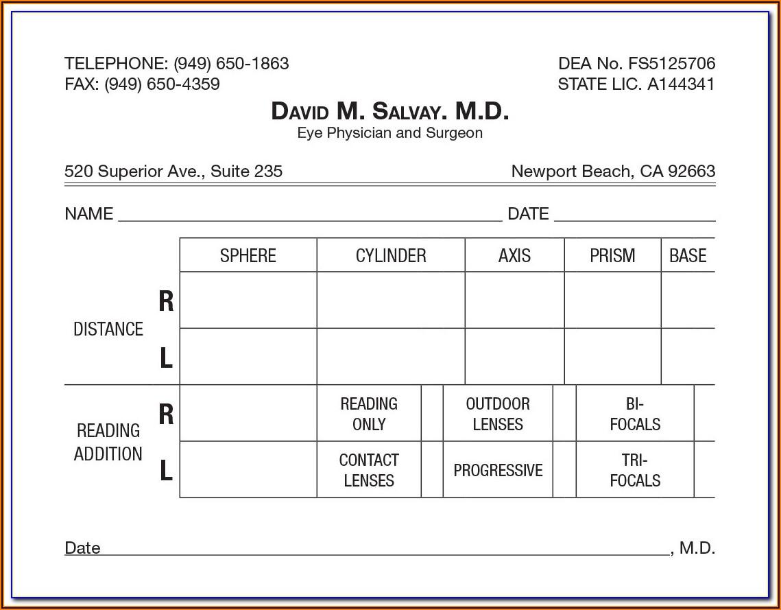Cpap Prescription Form