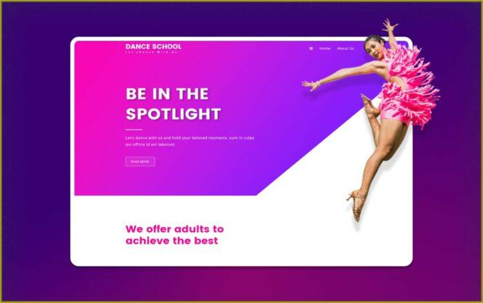 Dance School Website Templates Free Download