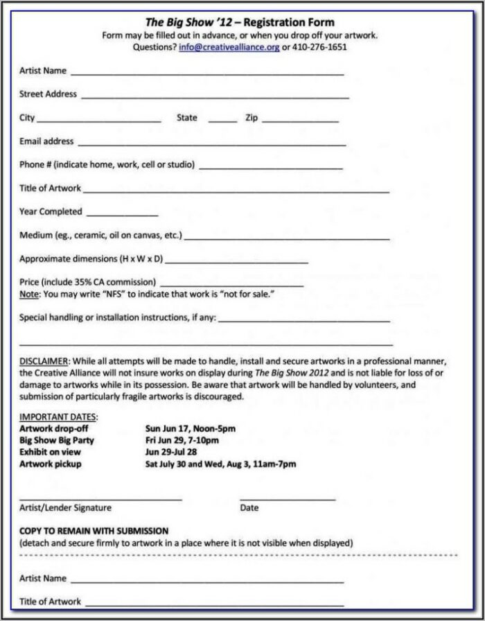 Daycare Financial Agreement Form