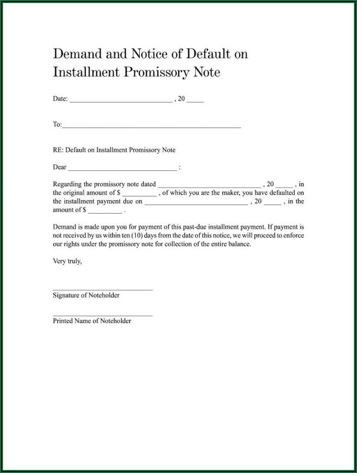 Demand Promissory Note Sample