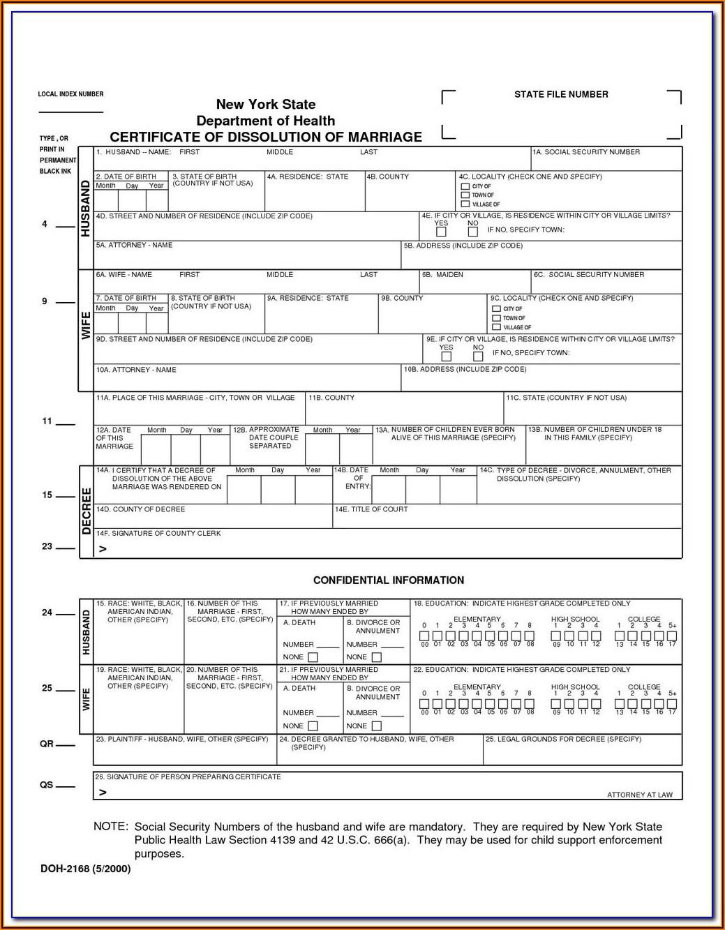 Divorce Forms Ontario Pdf