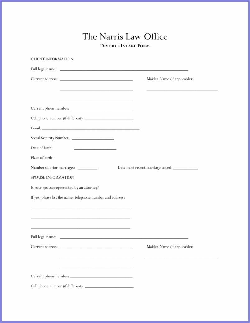 Divorce Intake Form