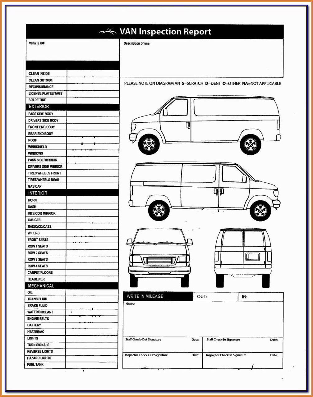Dot Trailer Inspection Sheet
