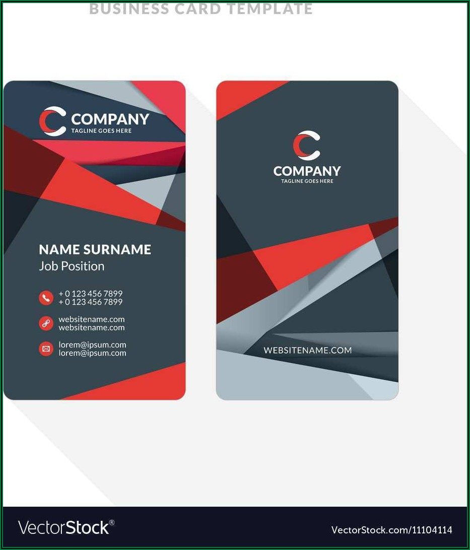 Double Sided Business Card Template Word Free