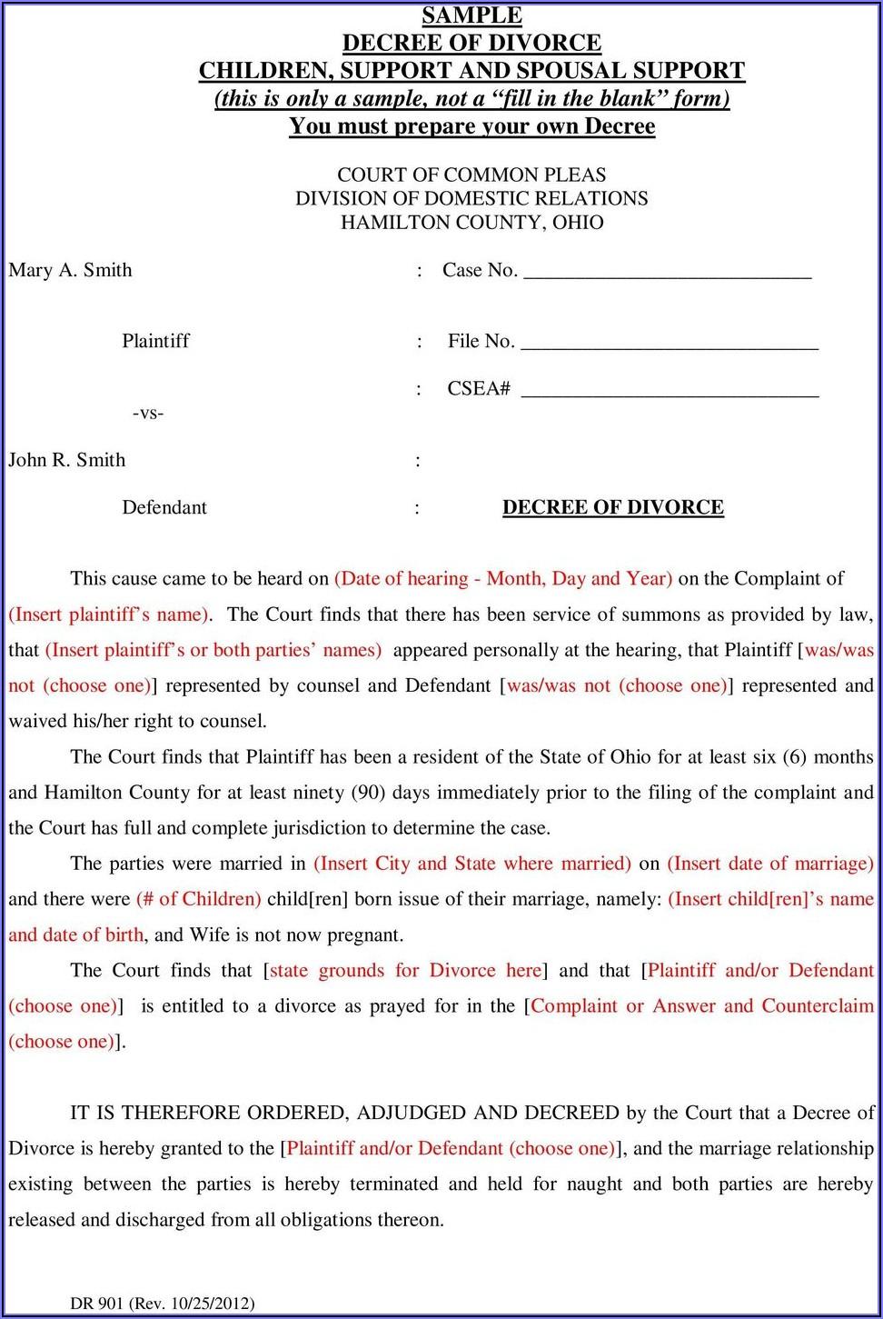 Douglas County Divorce Paperwork