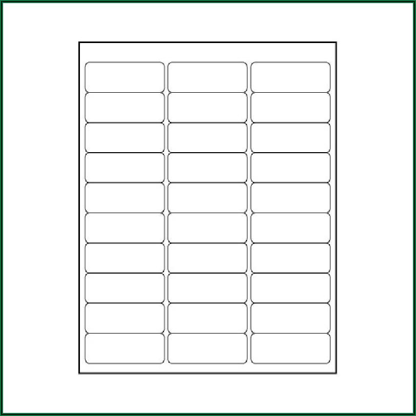 Easy Peel Labels Template 5160