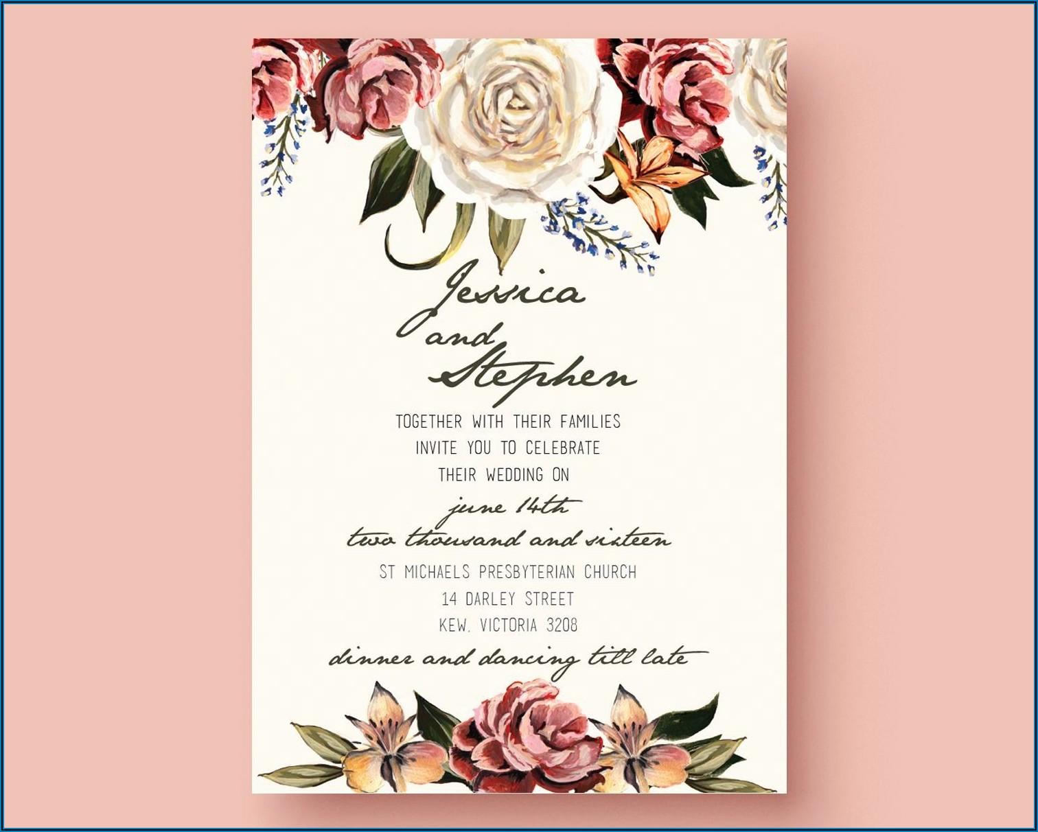 Editable Islamic Wedding Invitation Templates Free Download
