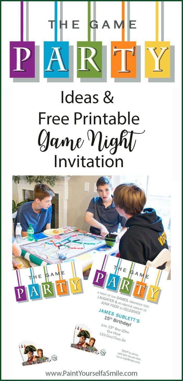 Family Game Night Invitation Template