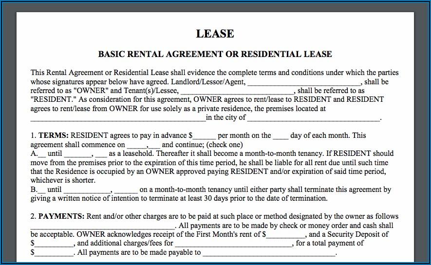 Farmland Rental Agreement Form Alberta