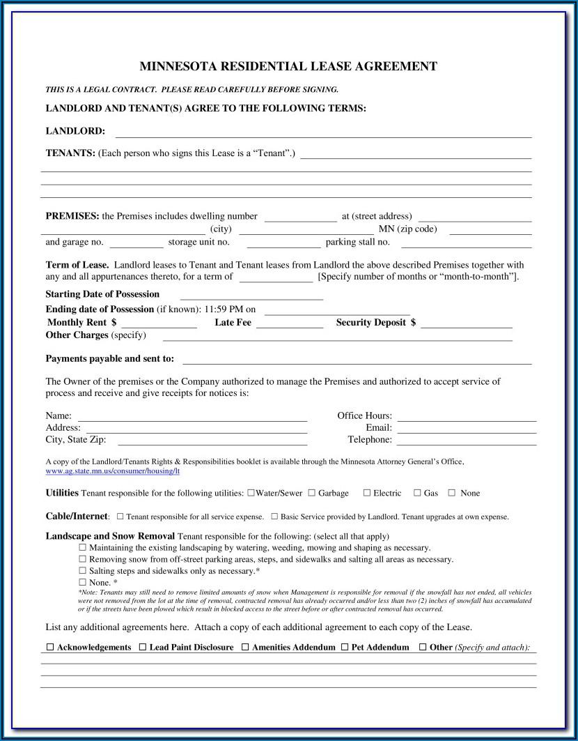 Farmland Rental Agreement Form