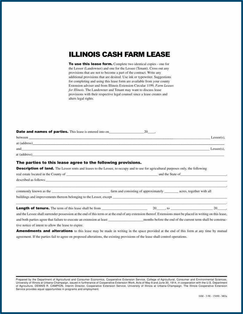 Farmland Rental Agreement Template