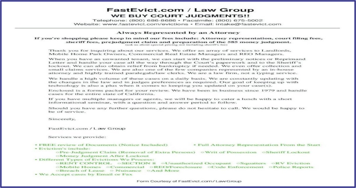Fast Eviction Service Forms