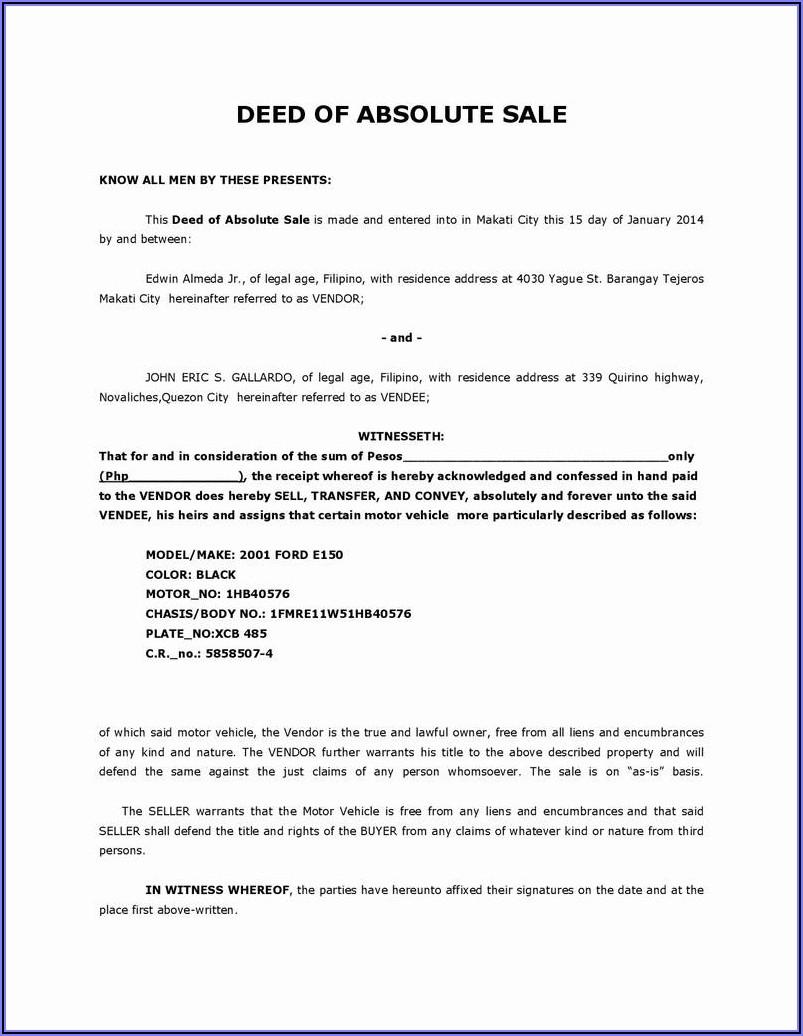 Florida Small Estate Affidavit Form