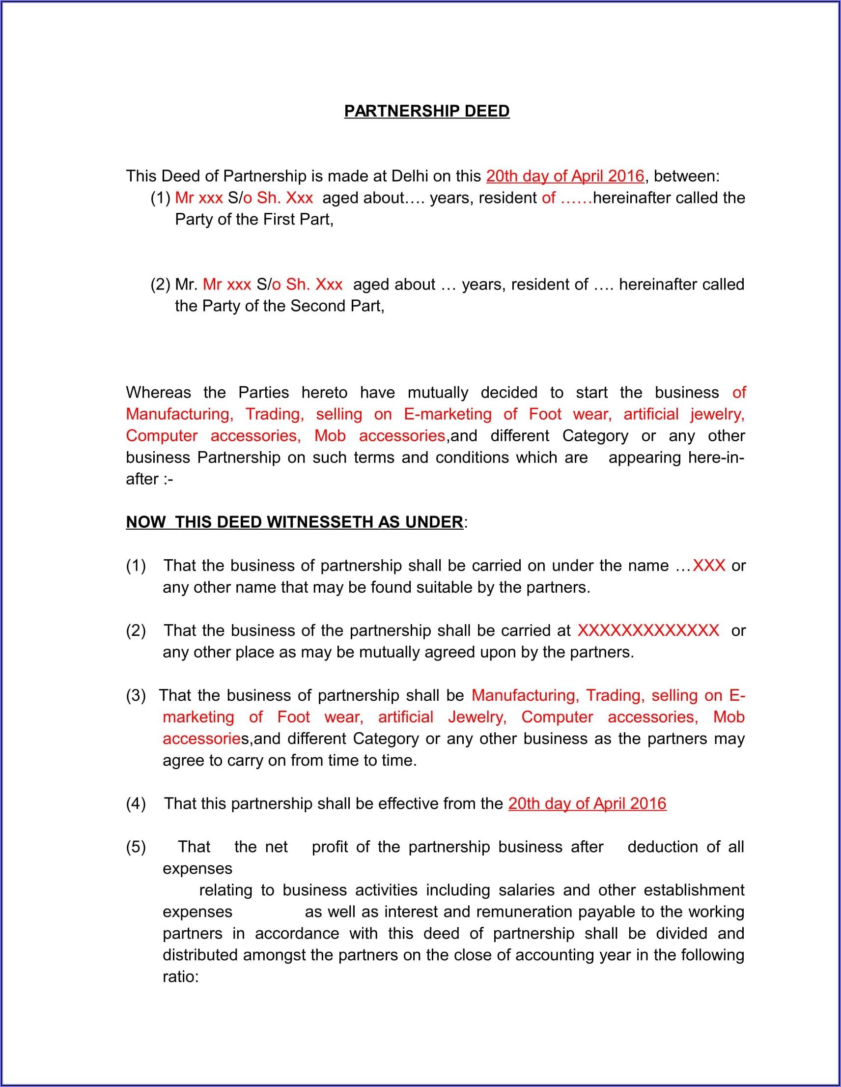 Form E Dissolution Of Partnership Firm
